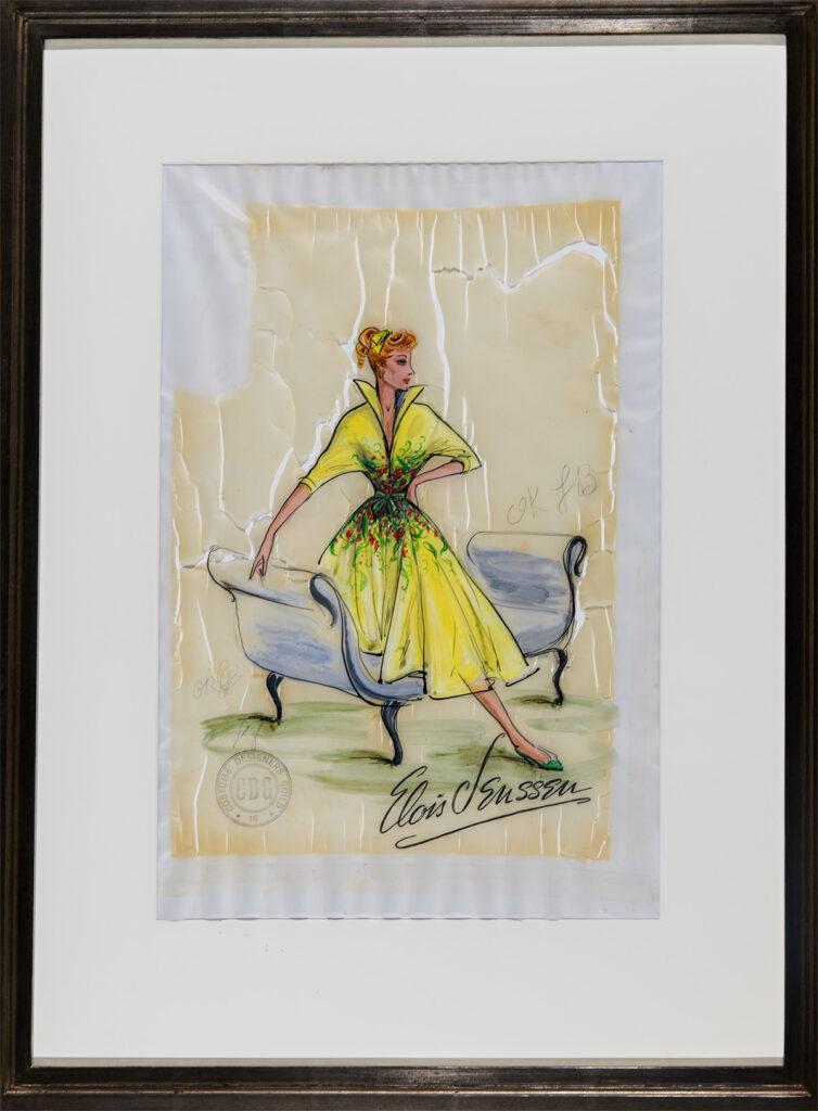 Fashion Sketch (Lucille Ball) by Elois Jenssen