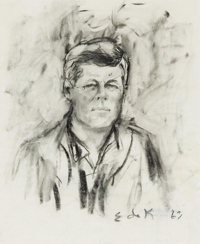 John F. Kennedy by Elaine de Kooning