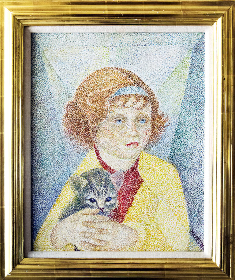 Girl With Her Kitten by Maria Vorobieff